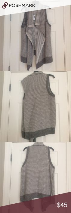 Grey sweater vest ADORABLE grey sweater vest from GAP. Brand NEW. GAP Sweaters