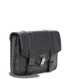 PS1 Chain black leather clutch