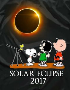 Solar Eclipse 2017 with Marcie, Charlie Brown, Snoopy, & Woodstock. Peanuts Gang, Peanuts Cartoon, Peanuts Characters, Cartoon Characters, Charlie Brown Y Snoopy, Snoopy Quotes, Peanuts Quotes, Joe Cool, Snoopy And Woodstock