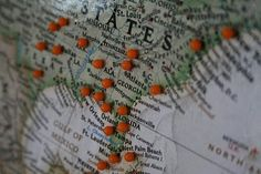 Do you use a pin & map system to track your past and future adventures?