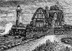 Pen & Ink Illustration but Ave Hurley of ArtRave Cards start at $4.95