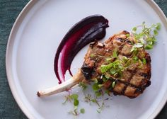 Pork Chops with Cherry Mustard Recipe #FoodRepublic