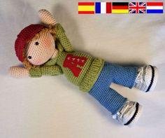 Crochet pattern for doll JOSH Deutsch English Français