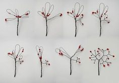 DIY Metal Jewelry : Miniature tree tutorial (I always wondered how these were made! How-to tutorial - Miniature Tree Tutorial with wire and beads twisted wire trees - very cute Miniature wire tree - The Pleasure of Tiny Things Nice visual for wire tr Wire Crafts, Bead Crafts, Jewelry Crafts, Diy And Crafts, Handmade Jewelry, Wire Flowers, Beaded Flowers, Wire Tree Sculpture, Wire Trees