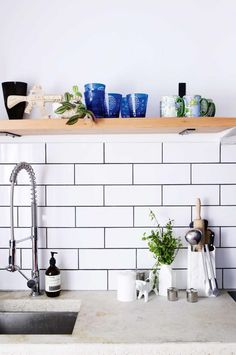 open-shelving-sink kitchen-subway tiles may13
