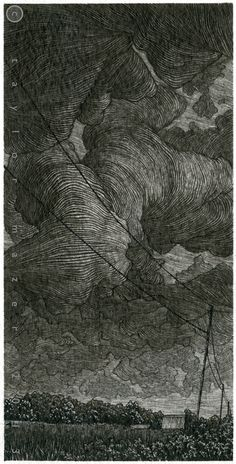 Taylor Mazer, October, 2013, pen and ink, 3 x 6 inches