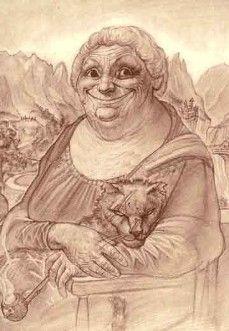 Nanny Ogg [Paul Kidby] (Gioconda / Mona Lisa) http://www.paulkidby.net/