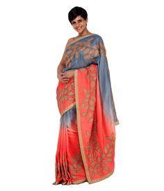 Mandira Bedi Gray Silk Saree, http://www.snapdeal.com/product/mandira-bedi-gray-silk-saree/633720443539