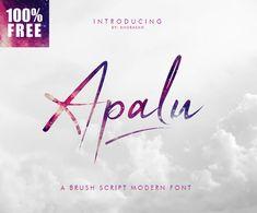 Apalu Brush Script free font