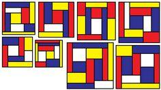 Ed Pegg has found optimal solutions for Mondrian Art Puzzles through… Theo Van Doesburg, Mondrian Art, Area And Perimeter, Puzzle Art, Tiling, Klimt, Bauhaus, Geometry, Puzzles
