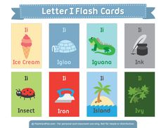 Free Printable Letter I Flash Cards English Fun, English Lessons, Learn English, Free Printable Flash Cards, Printable Letters, English Activities, Vocabulary Activities, Learning English For Kids, Teaching English