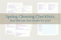 Spring Cleaning Printables - Scattered Squirrel