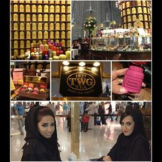 Out with my baby sister having a sisterly time     We are sitting in TWG tea shop in Dubai Mall.   I always thought that its a boring place and I always thought that tea is boring ☕but i was mistaken, I love the place and my heart grew an extra space for tea since coffee is taking all over it❤☕    The place is amazing, calm and soothing  I tried a cold Mocktail with tea called pinko *i think that's the name* it's watermelon with tea, tastes like heaven