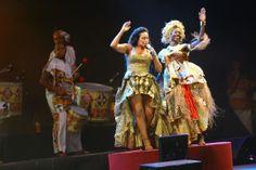 Daniela Mercury fez dueto com a Band´Aiyê do bloco Ilê Aiyê em show público no 1º dia do ano. Foto: Margarida Neide/Ag. A TARDE