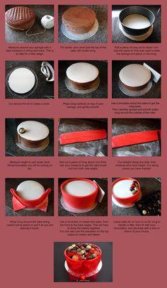 Tutorial - Chocolate Box Cake .