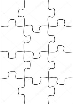 Illustration of a twelve piece jigsaw puzzle Creative Gifts For Boyfriend, Boyfriend Gifts, Puzzle Piece Template, Diy Birthday Gifts For Mom, Free Jigsaw Puzzles, Stationary School, Alternative Christmas Tree, Woodworking Projects For Kids, Puzzle Pieces