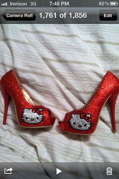 caa606dc1 Rhinestone hello kitty heels by 1KraftyGirl on Etsy. , via Etsy. Hello  Kitty Shoes