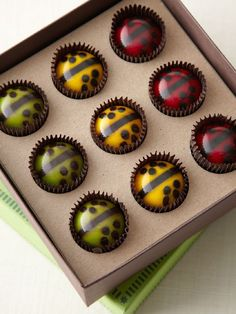 Filled with sustainably-sourced, local, fresh raspberries, mint or honey, these hand-painted chocolate ladybugs taste as good as they look.