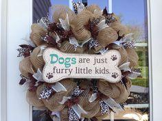 Dog mesh wreath
