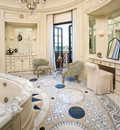 Glamorous Bathrooms : Architectural Digest