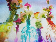 Blooming, watercolour by Kal Danner
