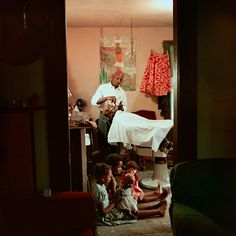 In-home barbershop. Shady Grove, 1956. Gordon Parks's Alternative Civil Rights Photographs - NYTimes.com