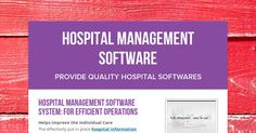 Helps improve the Individual Care The effectively put in place hospital information management system can be cultivated the actual quality from the affected person care by simply enhancing the timeliness as well as precision with the information together with admin information.