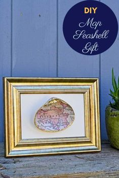 Make a special seashell gift for Christmas. Learn how to print a map of your favourite place onto a seashell to make a unique personalized gift. Mod Podge Crafts, Fun Crafts, Amazing Crafts, Unique Christmas Gifts, Christmas Crafts, Christmas Ideas, Picture Boxes, Unique Maps, Painted Picture Frames
