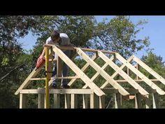 Construir / hacer una cubierta / tejado / estructura de madera / techos sí mismo - YouTube