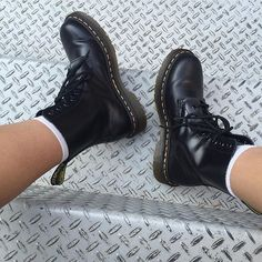 How do you wear your Dr. Martens? The Black Pascal boots.  Shared by @hanachanida #drmartenstyle by drmartensofficial