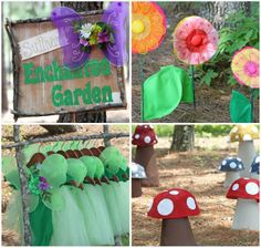 How cute would it b to make mushrooms to put  around the park area..