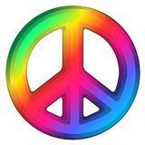 signe d'arc-en-ciel de paix Photos stock