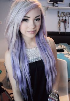 ombre to purple - I could NEVER get away with doing that or even pull it off - awesome lookin anyways :)