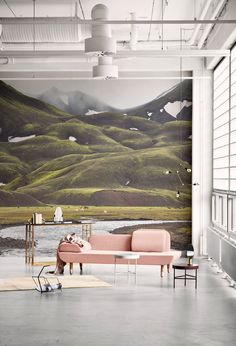 Create a serene setting in your home with this beautiful mural.
