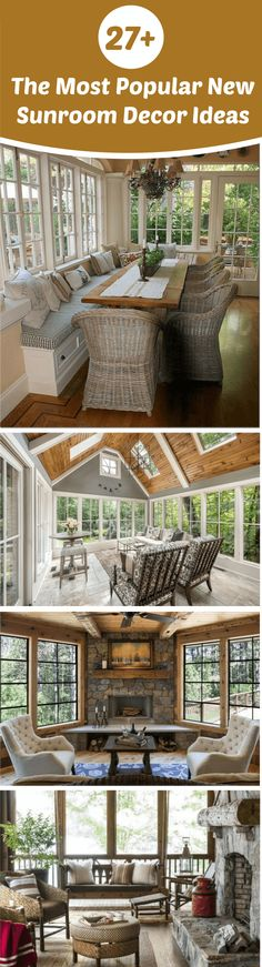 Design for sunroom decor ideas | This sunroom provides year-round beauty and comfort. If you read one article about Sunroom Decor Ideas read this one. Browse photos of sunroom designs and decor. Discover ideas for your four seasons room addition, including inspiration for sunroom decorating and layouts. #sunroom #sunroomideas #sunroomdesign