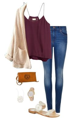 """""""out for ice cream!"""" by gabbbsss ❤ liked on Polyvore featuring Dr. Denim, H&M, Jack Rogers, Jennifer Zeuner and Kate Spade"""