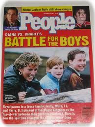 """People Magazine Issue Diana v's Charles """"Battle for the Boy's"""""""