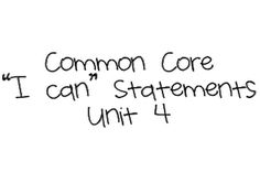 """First Grade and Fancy Free: Common Core """"I Can"""" Statements for 1st grade, Unit 4"""