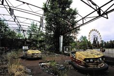 The abandoned city of chernobyl: eerie that there's an amusement park in the middle of town. Haunted, for sure.