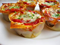 Petite Lasagnas from Can You Stay for Dinner. These are incredibly healthy and are a definite crowd pleaser. I make these when we're having company. It's definitely one of my favorite recipes!
