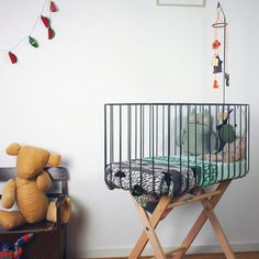Dark Grey - This Modern Life Unique Cribs, Moses Basket, Baby Nest, Girl Nursery, Nursery Ideas, Room Ideas, Kid Spaces, Baby Sleep, Baby Love