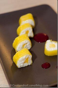 Maki sushi mangue et riz au lait