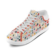 MBI Pattern Color Cool And Cute Design Custom Artsadd Chukka Canvas Shoes for Women(Model003)