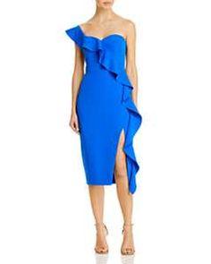 Eliza J One-Shoulder Dress | Bloomingdale's Aidan Mattox, Designer Cocktail Dress, Party Dresses For Women, Crepe Dress, Her Style, Off The Shoulder, Shoulder Dress, Dresses Online, Fabric Design