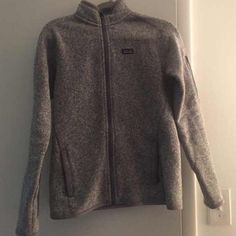 Patagonia Better Sweater I bought this off poshmark but it's too small on me! Excellent condition. Please keep in mind that this is the version from last year so it has zippers in the pockets and lining on the neck! Patagonia Jackets & Coats
