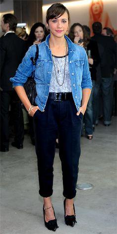 Rashida Jones.. Those pants... I need them in my life