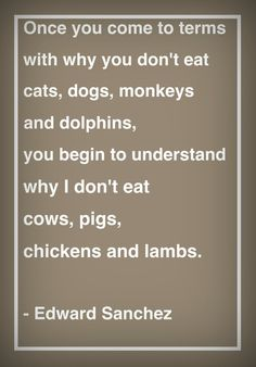 they're all the same when it comes to suffering and pain ~ go vegan!  #MyVeganJournal