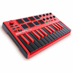 Akai MPK Mini Mk2 Performance USB MIDI Pad & Keyboard Controller With Production Software Package (LIMITED EDITION BLACK & RED VERSION)