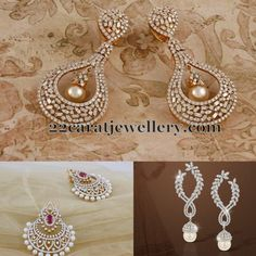 Jewellery Designs: Heavy Diamond Chandbalis