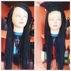 DIY: How to make braids wig with lace closure (pictorial) – Natural girl on a budget Natural Protective Styles, Natural Hair Styles, Long Hair Styles, How To Do Crochet, Single Crochet, How To Make Braids, Crochet Braids Twist, Crochet Baby Sweater Pattern, Crochet Pattern